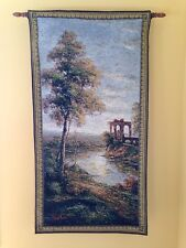 """Ancient Ruins Nigel Pierce Old World Art 50""""x26"""" Tapestry Wall Hanging NEW"""