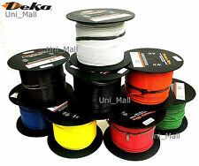 New DEKA 18AWG 8 COLORS 25 FT Primary Wire 80 Deg C, UL SAE CSA Compliant, USA