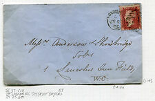 Great Britain Postal History Cover - 1860 SG #37 - 74 London District Duplex