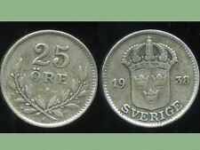 SUEDE 25 ore 1938  argent  silver