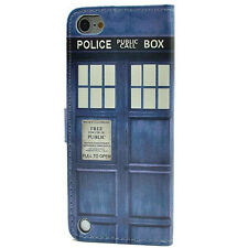 Doctor Dr Who Tardis Leather Card Wallet Flip Stand Case For ipod Touch 5 5th 6