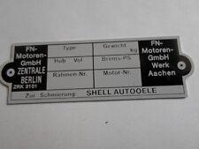panneau type FN Moteurs ID-plaque panneau Moto Oldtimer