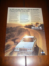 BUICK GRAND NATIONAL T TYPE TURBOCHARGED 3.8 - ORIGINAL AD