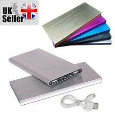 SILVER 100000mah Power Bank Pack Backup Mobile Phone Charger for Smart Phone