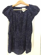 Maeve Trace The Stars Constellation Blouse 8 EUC Anthropologie