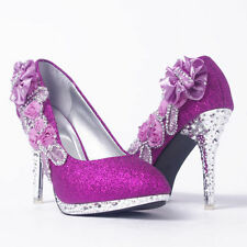 Bridal Shoes and Accessories in Main Colour:Purple Style:Court