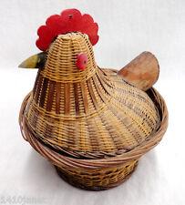 Vintage Wicker Hen on Nest HON Chicken Rooster Basket
