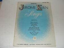 Album of Jerome Kern Songs Vol 2 Piano chords sheet music book