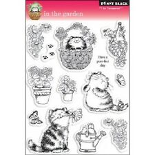 PENNY BLACK RUBBER STAMPS CLEAR IN THE GARDEN SET 2010