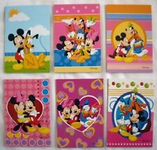 6 pcs DISNEY Mickey Mouse NOTEPAD Memo Pads School Office Party Favor Supplies