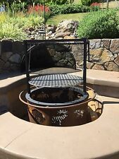 Fire pit barbecue attachment (Santa Maria style, Crank style, Adjustable grate )