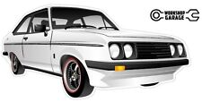 Ford Escort RS2000  MK 2 - 2Door - White with Black Simmons