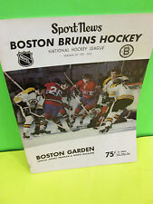 NHL- BOSTON BRUINS VS. MONTREAL CANADIENS NOVEMBER 7 ,1971 OFFICIAL PROGRAM