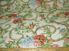 "~11 4/8 YDS~YDS~ BRAEMORE ""FLORAL DAMASK""~COTTON UPHOLSTERY FABRIC FOR LESS~"