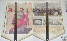 2490/ CALENDRIER BICENTENAIRE 1789-1989 A SUSPENDRE 54X38CM  7 PAGES ILLUSTRÉES