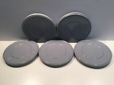 Lot of 5 Vintage 16mm Gray Metal Film Reel Cans 9 1/2 Inches 600ft New