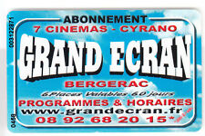 CINEMA  CARTE / CARD .. GRAND ECRAN ABONNEMENT 60 JOURS BERGERAC MAGNETIQUE 1