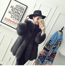 100% Real genuine fox fur coat  medium and long