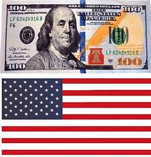 Beach Towels Wholesale Lot of 6 USA American Flag $100 Hundred Dollar Cotton