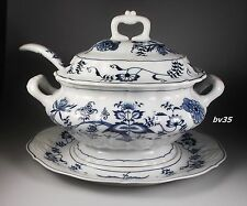 BLUE DANUBE JAPAN SOUP TUREEN WITH LID LADLE & UNDERPLATE -old banner backstamp