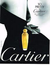 PUBLICITE ADVERTISING 074  1998  CARTIER  parfum SO PRETTY