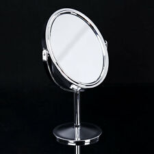 Beauty Cosmetic Makeup Oval Double-Sided Normal Magnifying Stand Mirror