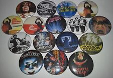 16 Tobe Hooper button Badges The Texas Chainsaw Massacre 2 Funhouse Eaten Alive