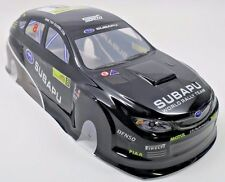 Subaru Hatchback STI Pre-Painted RC Body 1/10th Scale Black HPI Traxxas 190mm