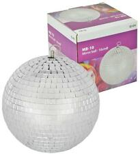 GLITTER BALL 10cm Mirror Ball Lightweight Silver for Disco & Parties