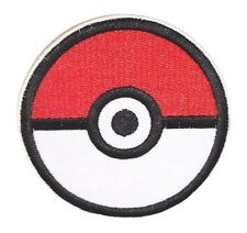 Pokemon Pokeball Iron-on/Sew-on Embroidered PATCH