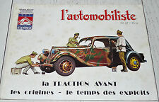 L'AUTOMOBILISTE 1975 N°37 CUGNOT LOISEAU TRACTION AVANT CITROËN 1878-1935