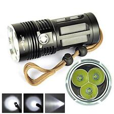 6000 Lumen 3x CREE XM-L T6 LED Tactical Flashlight 3 Modes Torch Hunting Camping