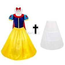 Adult Snow White Dresses Women Cosplay Halloween Costume Fancy Dress +Petticoat