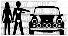 Classic mini cooper s minilite ALLOY track car love heart funny rude vinyl decal