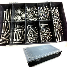 220 PIECES A2 STAINLESS SOCKET CAP KIT + NYLOC & FULL NUTS, FORM A WASHERS, BIKE