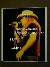 Ronnie Van Zant 1977 Lynyrd Skynyrd 16 X 20 Color Concert Photo Lakeland,FL