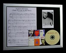 PHIL COLLINS+SIGNED+FRAMED+AGAINST ALL ODDS=100% AUTHENTIC+EXPRESS GLOBAL SHIP