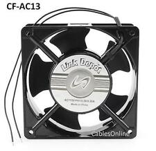 120x120x38mm AC 115V Ball Bearing PC Computer Case Cooling Fan, Metal - CF-AC13