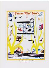 GB STAMPS 1966 MINT SET NH ON A4 DESIGNED UK WILD BIRDS  PLUS: FREE CARDS (41)