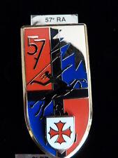 INSIGNE MILITAIRE Pucelle Armée Arthus Bertrand 57° RA ARTILLERIE