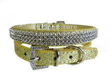 bling Rhinestone dog collar small pet bracelet chihuahua cat Crystal necklace