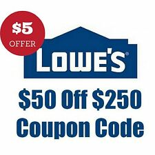 (20x) Lowes Coupons Code  $50 OFF $250 Online-Coupon Lowe's Email Delivered Fast