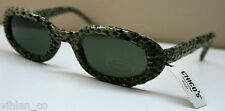 NEW, RARE ~ CHICO's Sunglasses SNAKE Print Fabric With Slip Case UV Protection