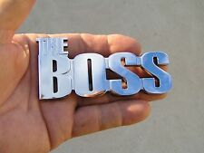 THE BOSS CAR EMBLEM suit Ford Mustang etc Metal Badge