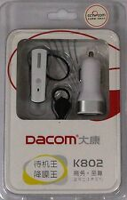 New Dacom K802 Stereo Bluetooth Headphone Headset for Mobile Phone White Boxed