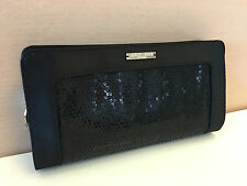 GIORGIO ARMANI Black SEQUIN Party Handbag Pouch Clutch Evening Bag *RARE*