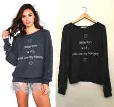 WILDFOX Do You Have Wifi? Aside YOU ARE MY FAVORITE Baggy Beach Jumper SWEATER S