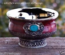 "Small 4"" SORCERESS Ornate Gothic Altar Offering Bowl - Pagan Wicca Witchcraft"