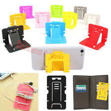 5XUniversal Card Foldable Mini Cell Phone Stand Holder Headset Earphone Winder