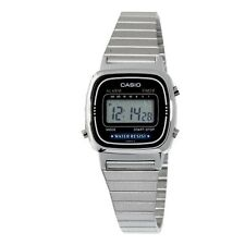 Casio LA670WA-1 Ladies Silver Classic Stainless Steel Digital Watch Alarm Timer